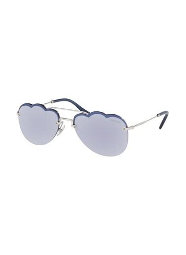 Miu Miu Miu Miu 56Us 1Bc-178 Kadın Güneş Gözlüğü Gümüş